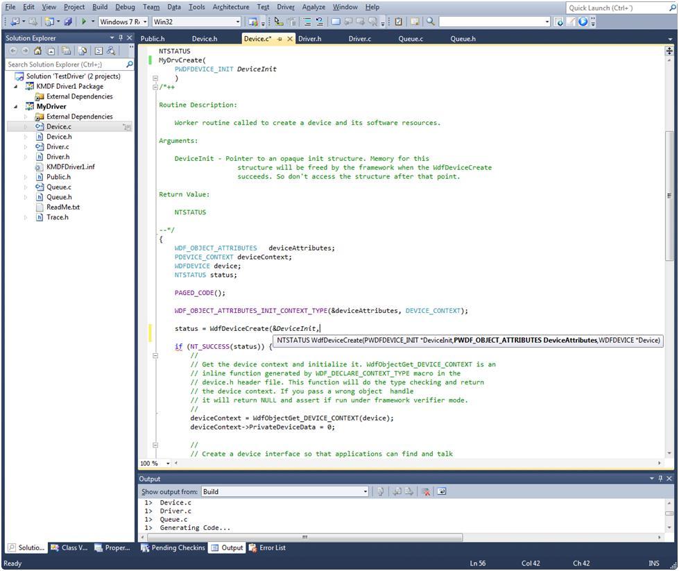 The NT Insider:Epic Update: Win8 WDK Provides Visual Studio Integration