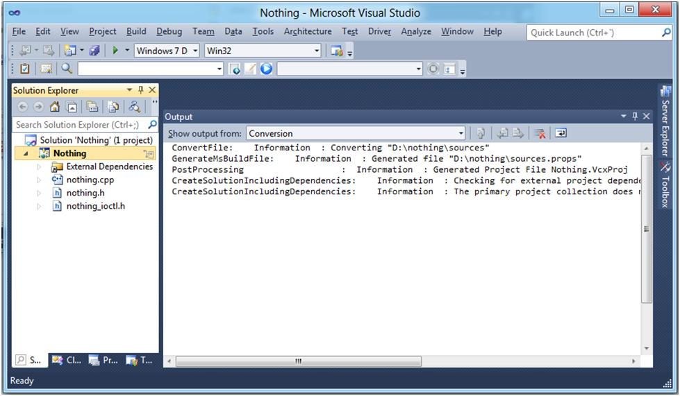 The NT Insider:Windows 8 WDK - Converting Sources Based